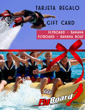 banana boat, flyboard,barco banana, platano, torrevieja, actividades, regalo
