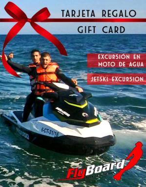 Tarjeta regalo excursion en Moto de Agua