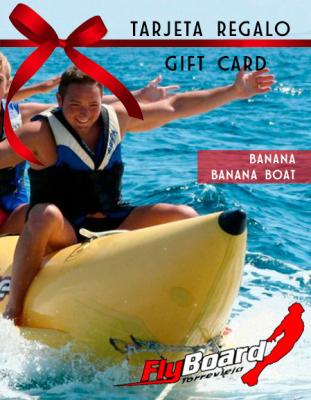 Banana boat, gift card, torrevieja, actividades, playa